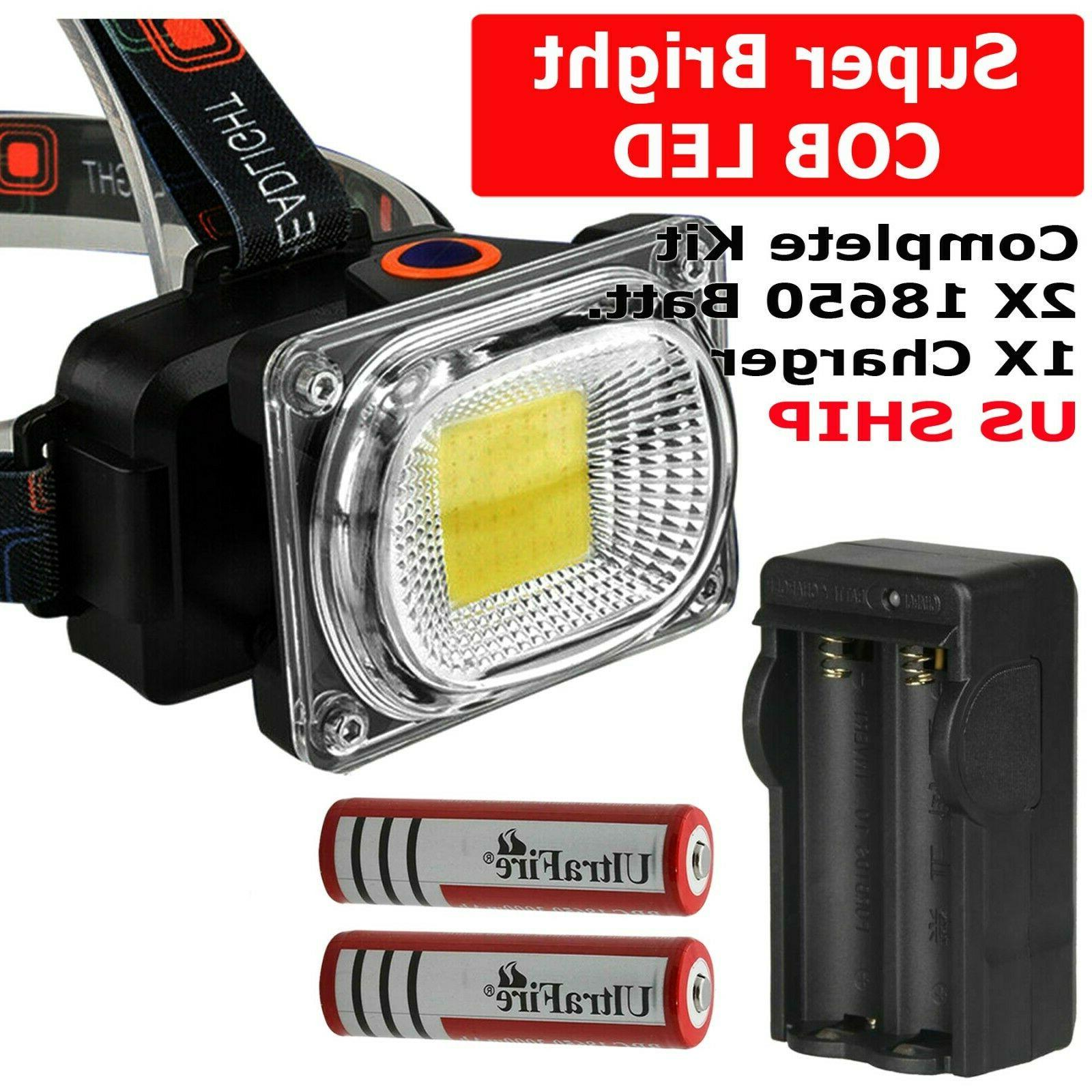 usb rechargeable led headlamp flashlight headlight head