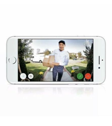 Ring Doorbell Camera Satin Nickel 1080 HD Wireless New
