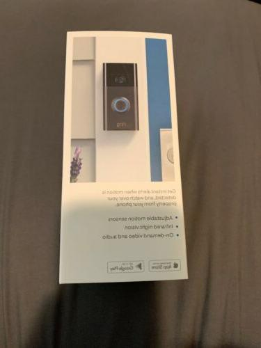 Ring Video Doorbell Wi-Fi Enabled HD with Alexa Venetian New