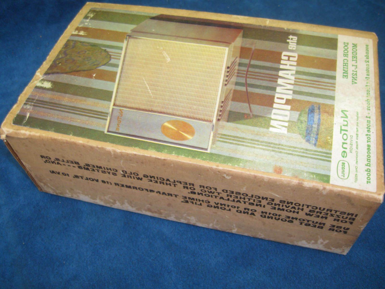 "Vintage DOOR CHIME ""The Champion"" L-12NV Complete"