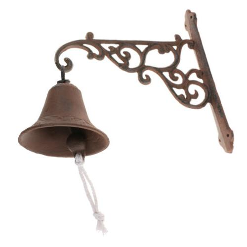 Vintage Style Wall Mounted Door Bell Metal Cast Iron for Hom
