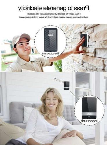 Waterproof Wireless Doorbell Bell No Battery