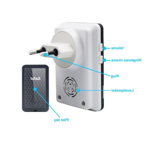 Waterproof Wireless Doorbell Door Bell Receivers Transmitter