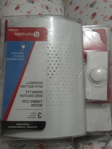 white wireless doorbell kit ut 7377 03