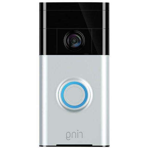 wi fi enabled video doorbell in satin