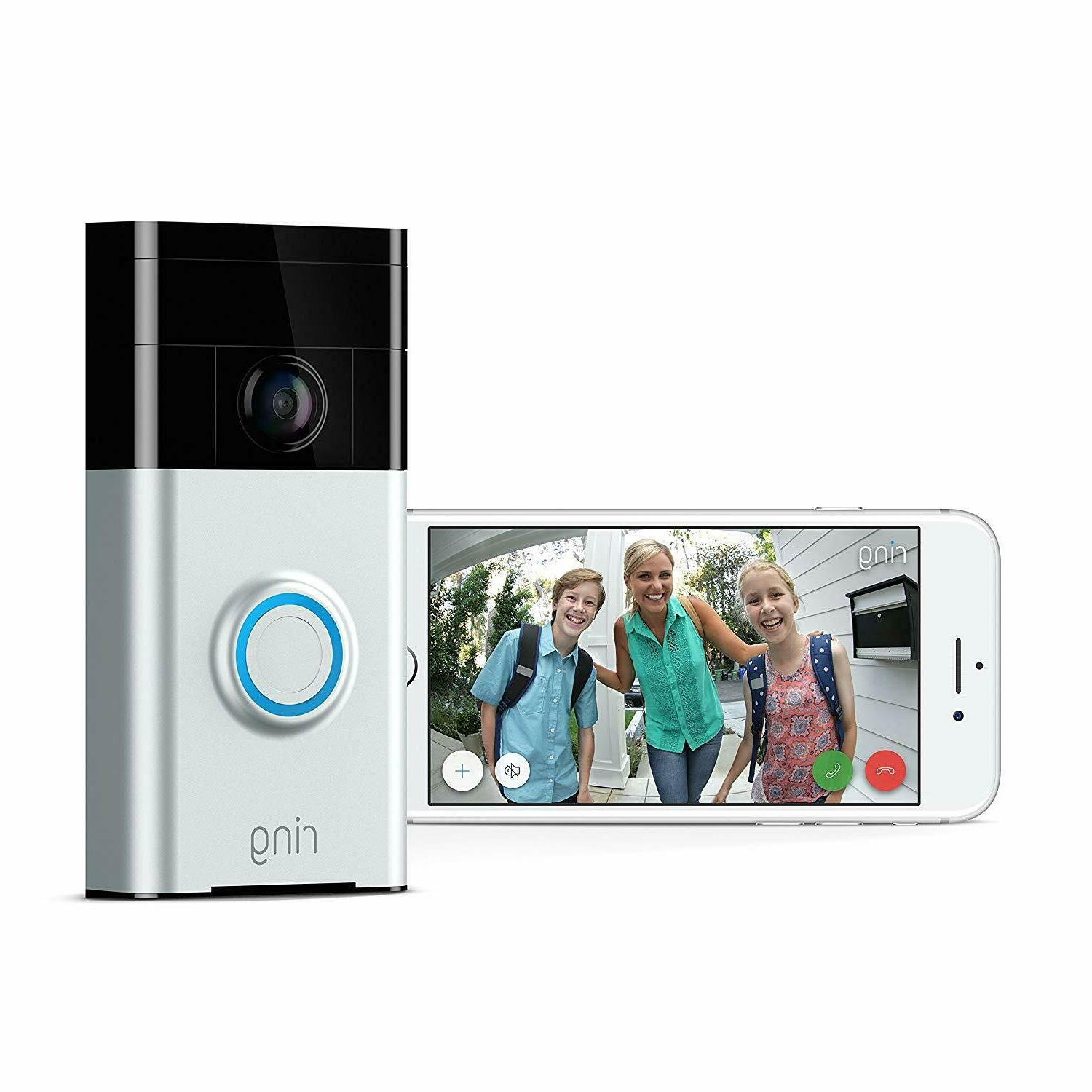 Ring Wireless Video Doorbell - Satin Nickel  Brand New