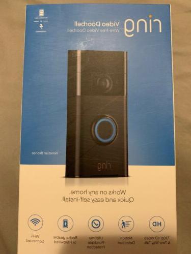 wi fi enabled video doorbell venetian bronze