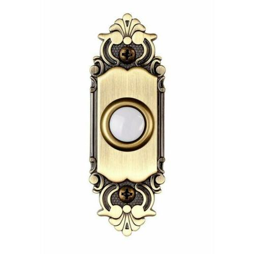 Hampton Bay Wired Antique Brass Finished Button