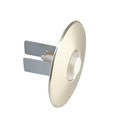 wired door chime lighted round stucco push