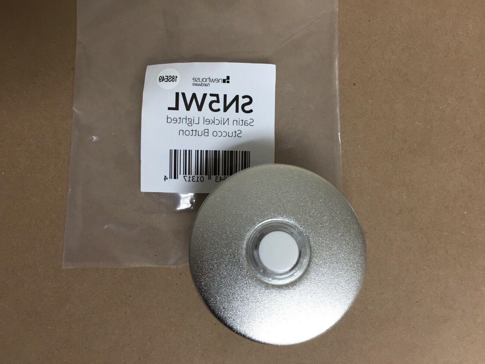 wired lighted door chime bell button satin