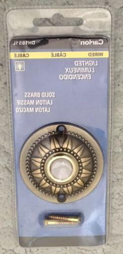 Wired Round Doorbell, Brass