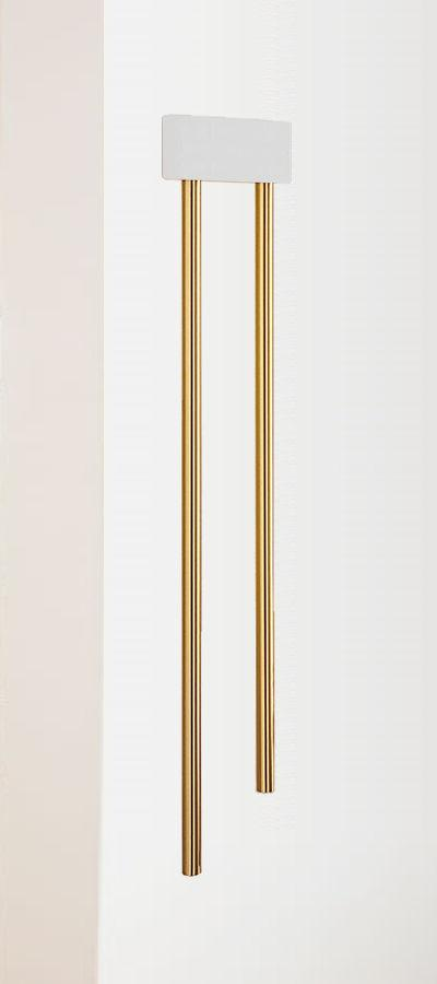 wired wall mounted long brass tubular doorbell
