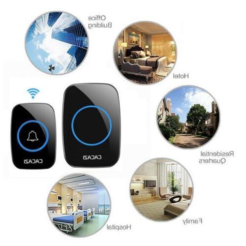 Wireless Bell Doorbell Waterproof Remote Plug Receivers Door Ring