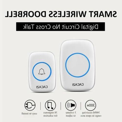 Wireless Doorbell Waterproof Remote Plug Receivers Door