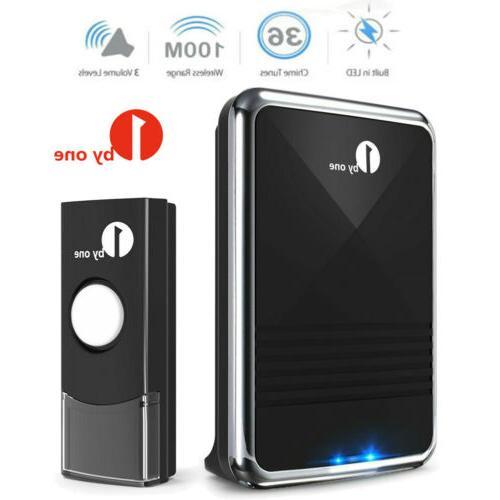 1byone 5X Wireless Bell Chime Waterproof Battery