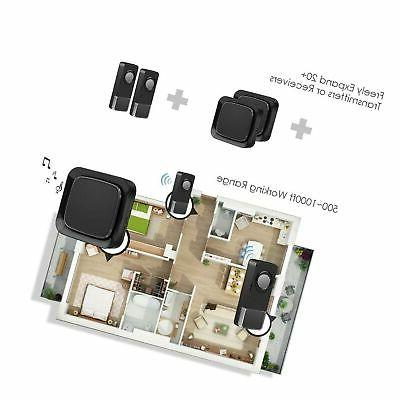 Wireless Door with 2 and 1 Receiver,