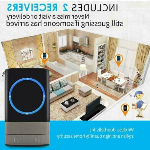 Wireless Doorbell Door Bell Button + Plug-in Receiver
