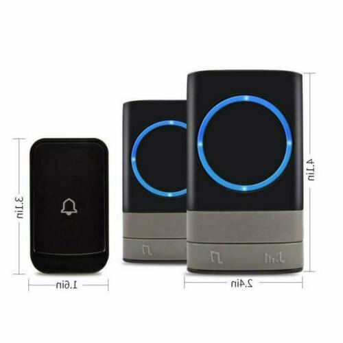 Wireless Door Loud Chime LED 1Transmitter+2 Plug