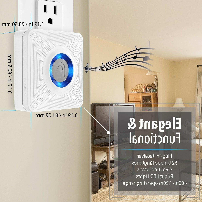 Fosmon Wireless Open Chime with 1 Receiver + 2 Door Sensor Transmitter