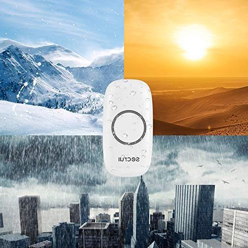Wireless Waterproof Chime 1000 Volume Mode Indicator Support Expansion Classroom - White