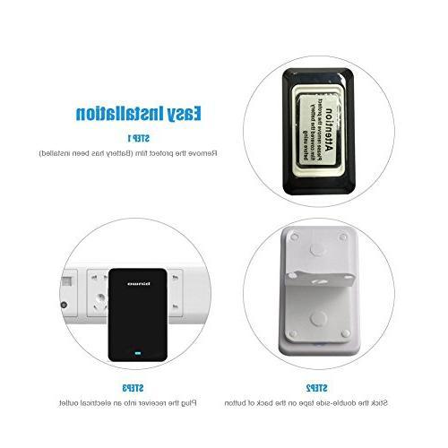Binwo Doorbell, Waterproof Door Bell with 1 1 Chime Volume Level