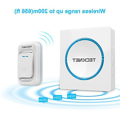 Wireless Doorbell, Kit with Button in Operating over 200m/656ft with 48