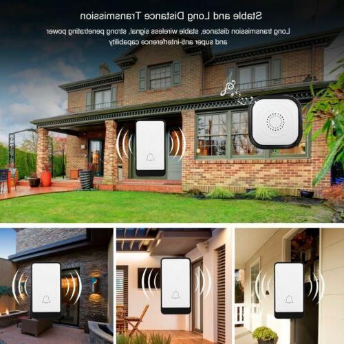 Wireless Doorbell Battery Door Button+1