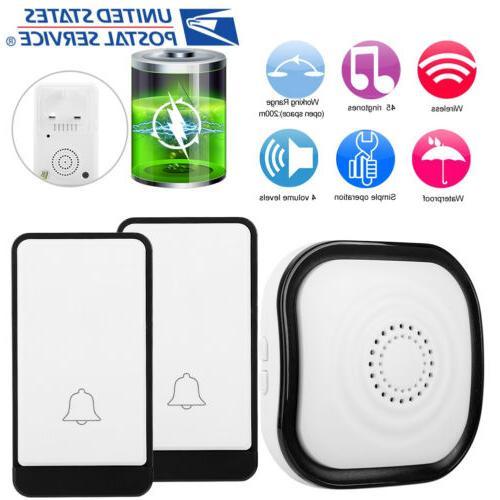 wireless doorbell battery operated door bell 2
