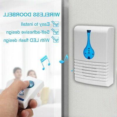 Wireless Doorbell Door Flash 32 Chime Range