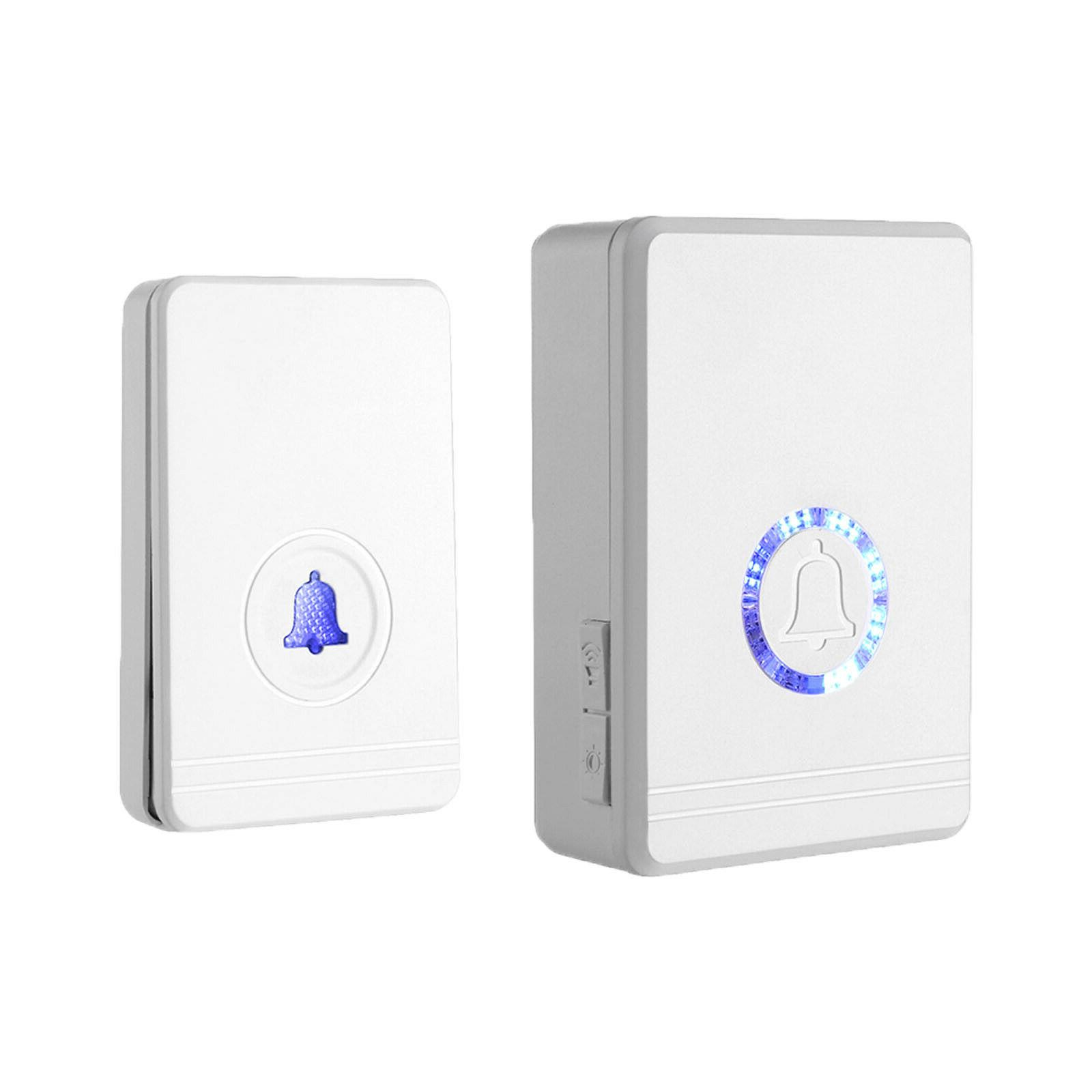 Wireless Doorbell Battery Operated Door Bell Remote Button a