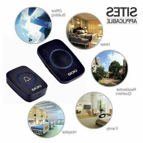 Wireless Doorbell Battery Door Bell w/ + 1Plug in