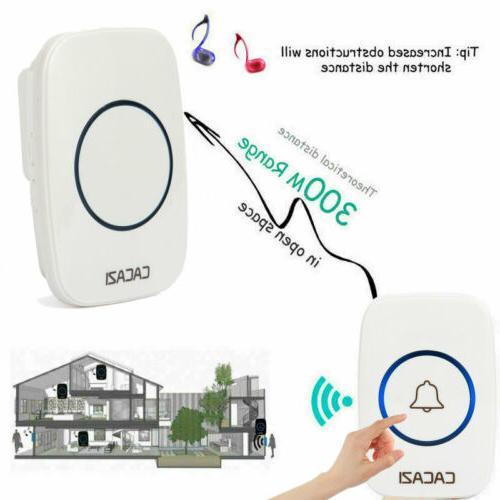 Wireless Doorbell Door Bell 1Transmitter + in