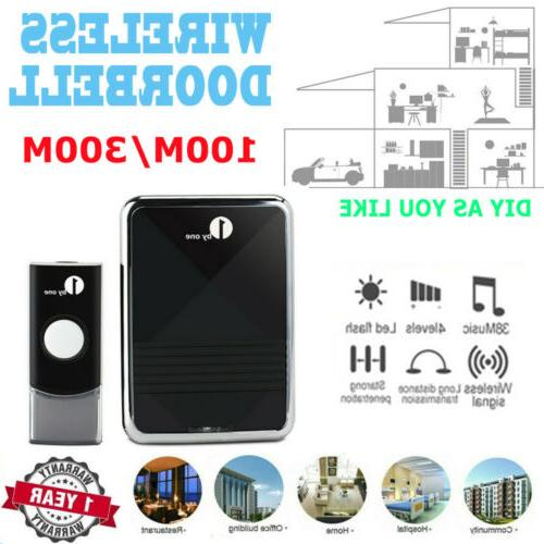 wireless doorbell battery operated remote button 1