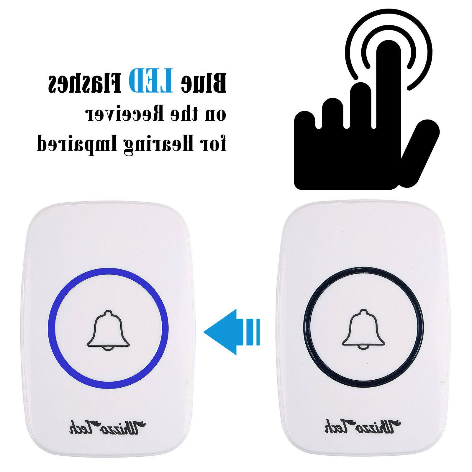 Wireless Doorbell Operated Remote Button Receiver