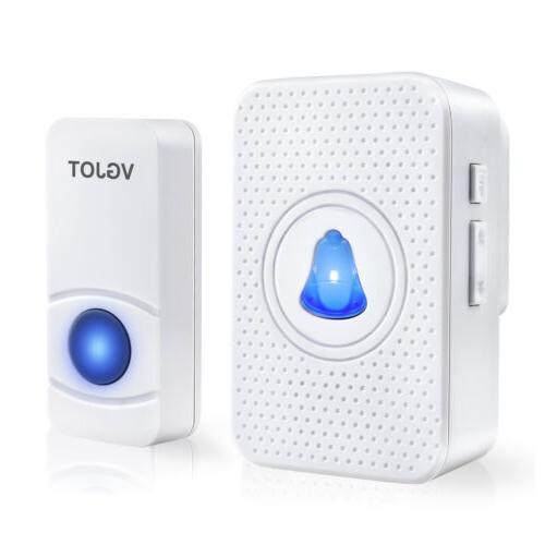 Wireless Doorbell bell 55 Melody Transmitters+1 3 US