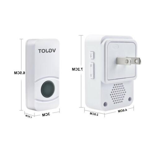 Wireless bell Waterproof 55 Melody Transmitters+1 Receivers US