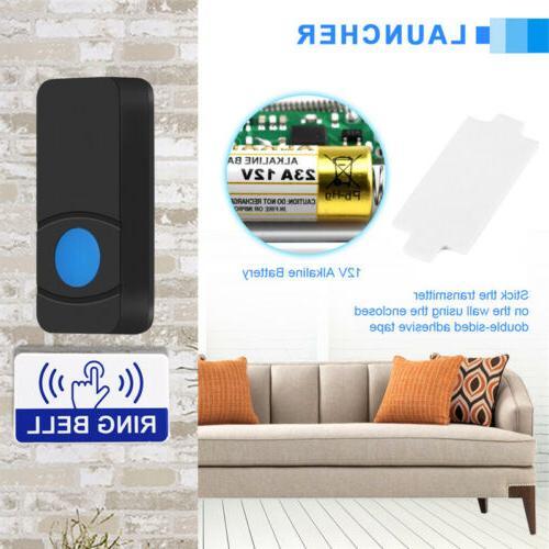 Wireless Wall Plugin Chimes 400FT Cordless Kit