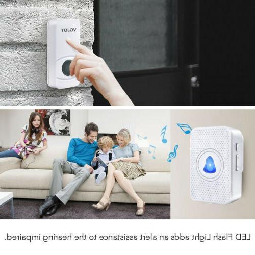 Wireless Doorbell Receiver Wall 400FT Cordless