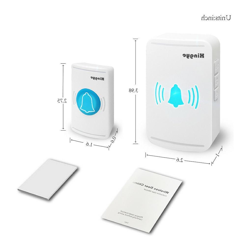 Wireless Doorbell Waterproof plug-in Door LED
