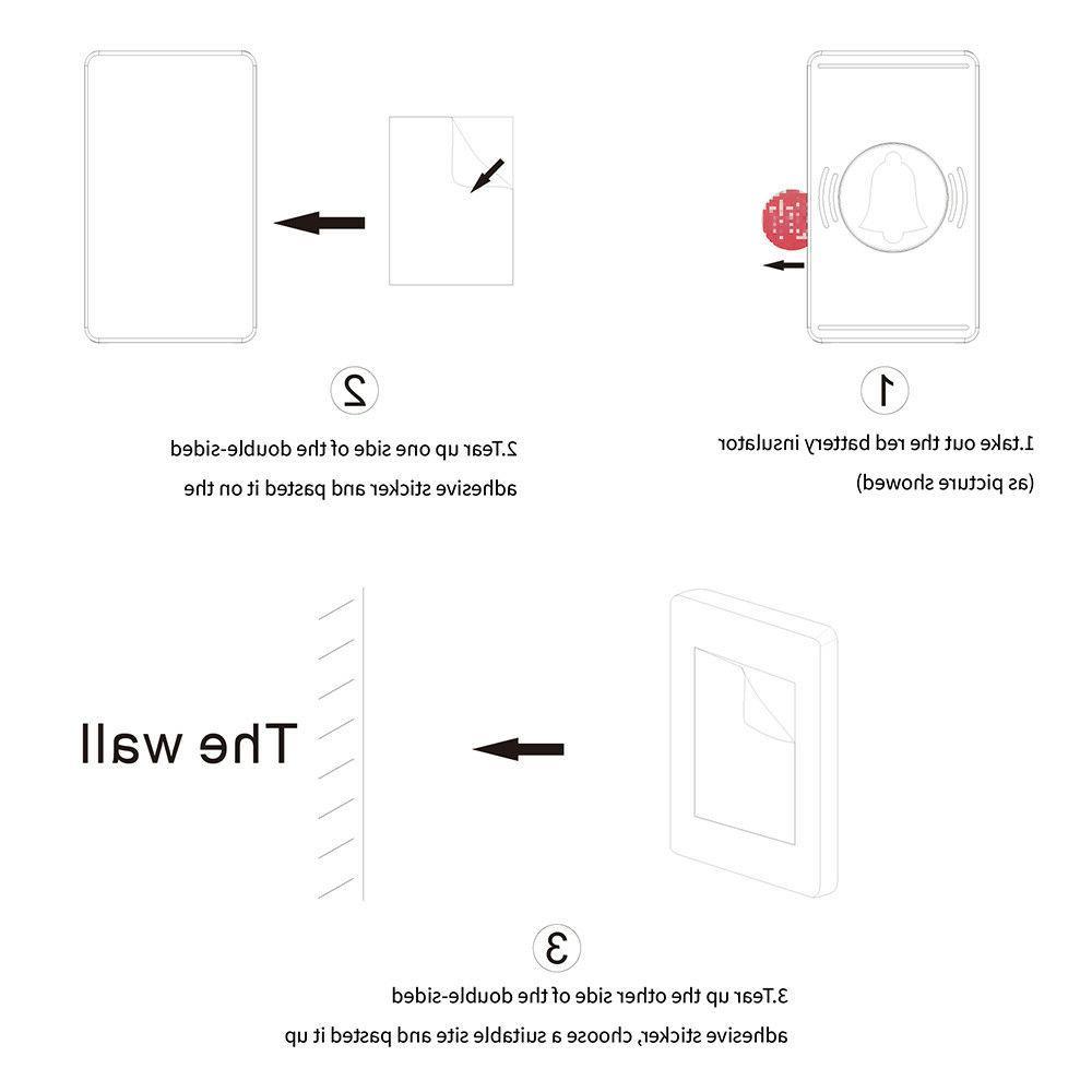 Wireless Waterproof Digital plug-in Door