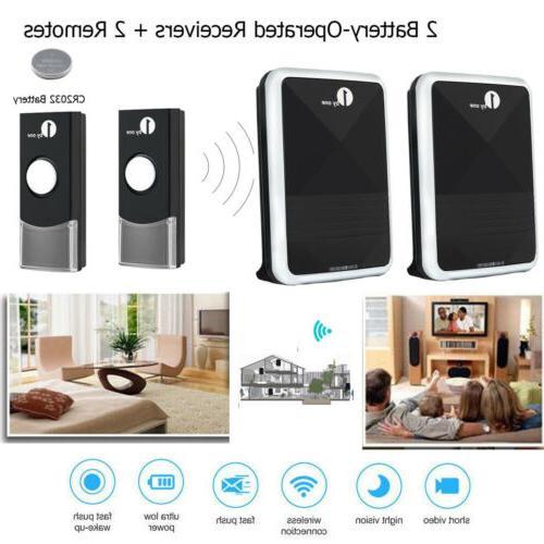1byone LED Wireless Door Bell Kit Chimes