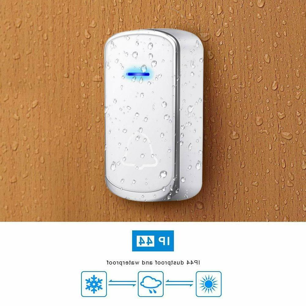 Wireless Doorbell Portable Receiver Waterproof Door Bell