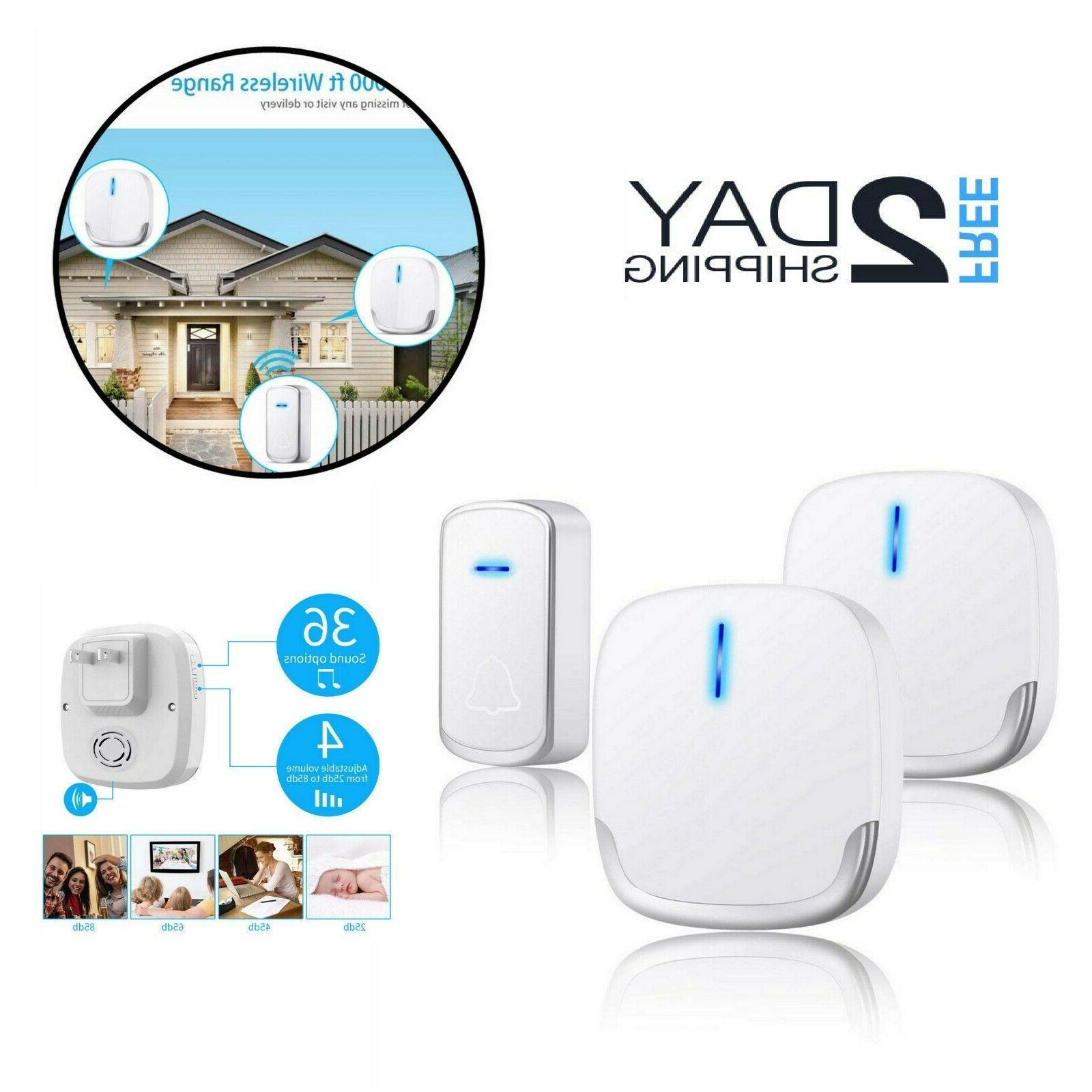 wireless doorbell chime kit waterproof remote receiver