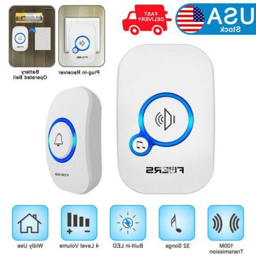 wireless doorbell chime push button doorbell 32