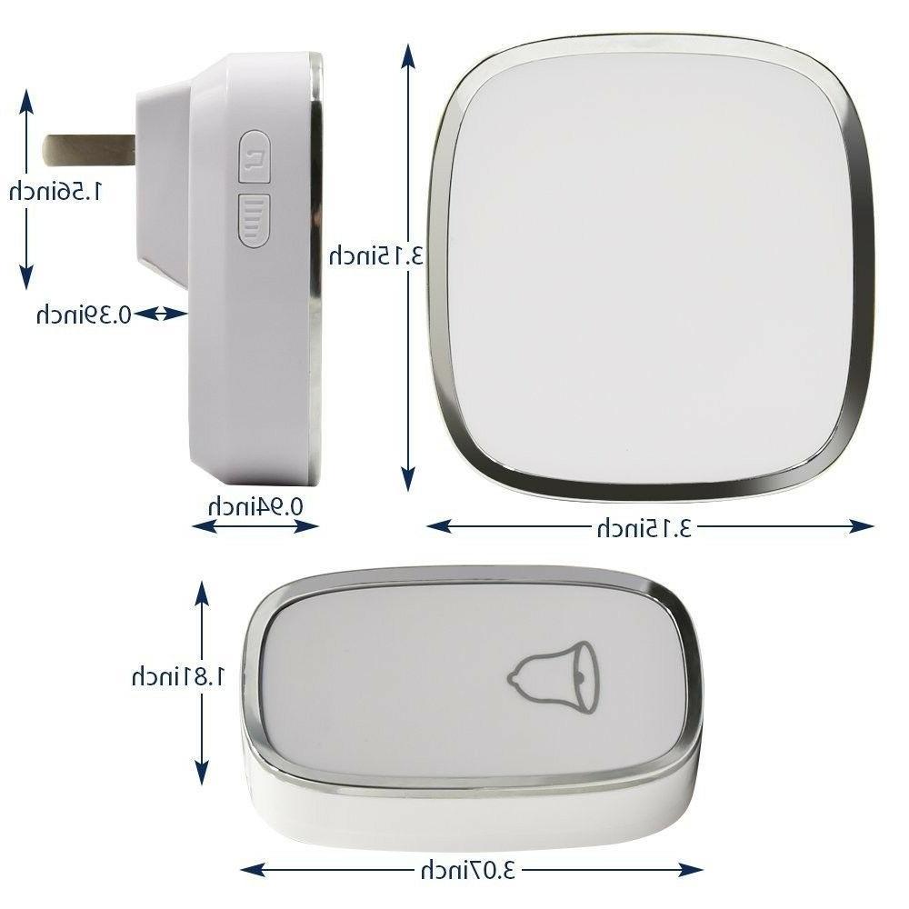 Wireless Doorbell Button 1000Ft Office Waterproof