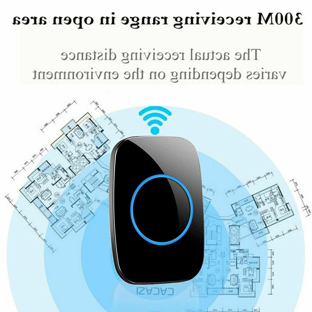 Wireless Chime Waterproof Plugin Adjustable 1000FT Kit