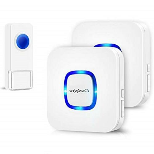 Coolqiya Wireless Doorbell Chime Waterproof Remote Door Bell