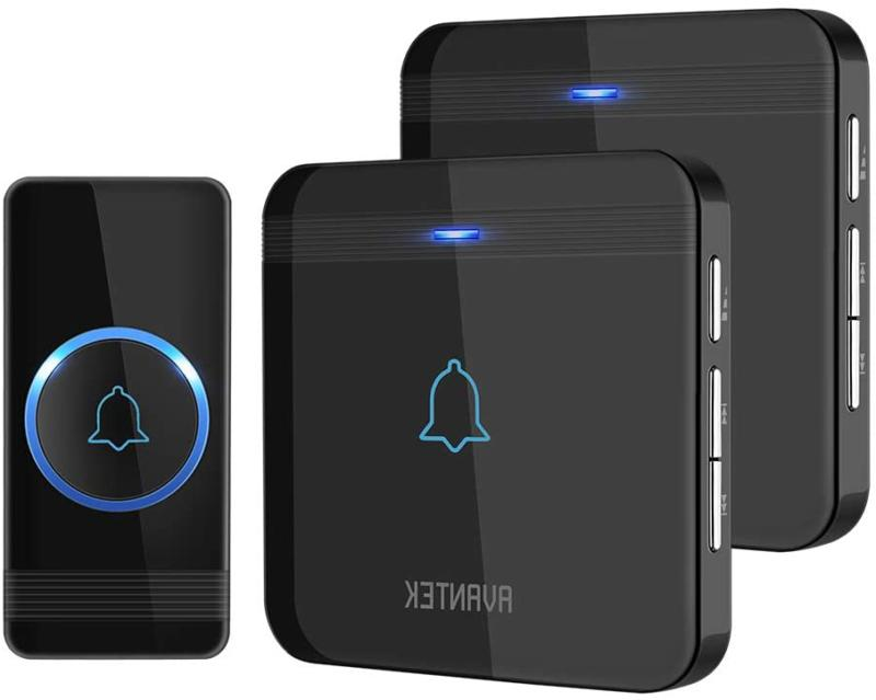 Wireless Doorbell, Avantek D-3B Waterproof Door Chime Kit Op