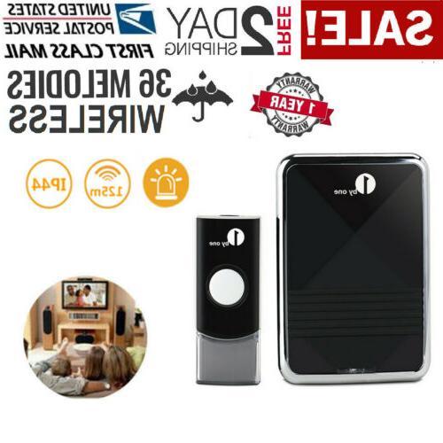 1byone 36 Sounds 300ft Wireless Doorbell Digital Kit Chimes