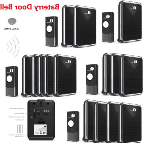 1Byone Easy Chime Wireless Doorbell Set Receivers Push Butto